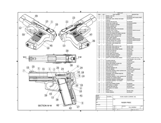 Ruger P90DC Full Assembly